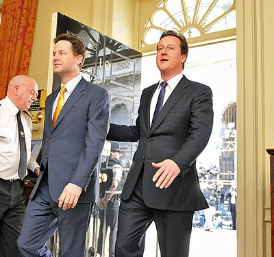 Nick Clegg arrives in Downing Street
