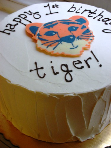 tiger's first birthday cake!
