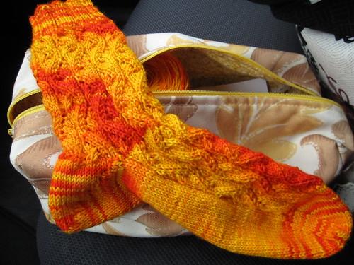 173/365: One Finished Sunshine Sock