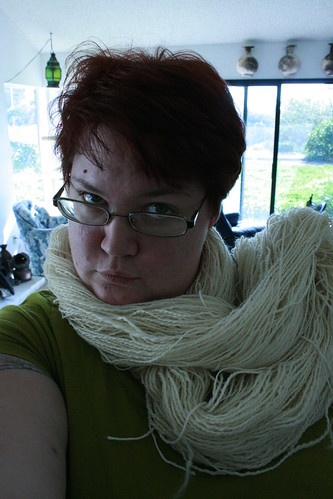 Who needs pearls when you have handspun?
