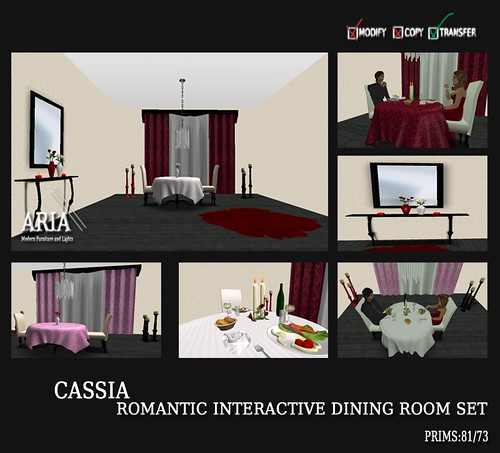 ARIA cassia romantic interactive dining room set