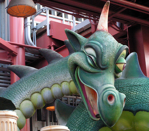 World of Morion Dragon was at Disney's California Adventure backlot