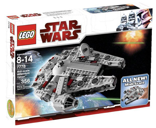 LEGO Star Wars 7778 Midi-scale Millenium Falcon box art