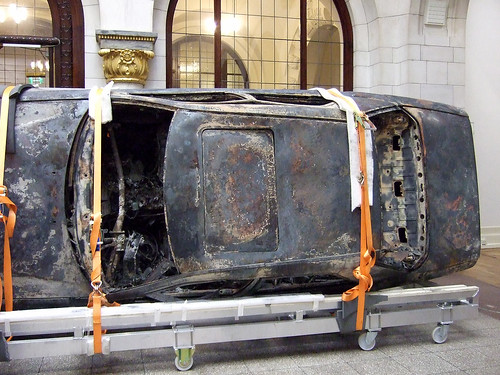 Faldbakken: Burnt out car