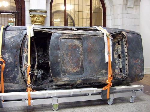 Faldbakken: Burnt out car