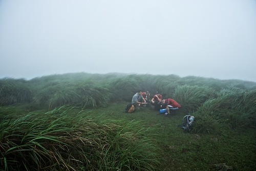 Yangming Shan - Hikers Take Shelter from a Storm