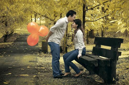 romantic in a springtime
