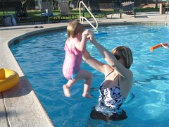 Selah Jumping into the Pool