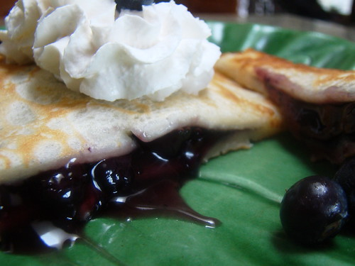 Blueberry Stuffed Swedish Pancake