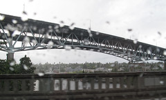 Aurora Bridge in the Seattle rain