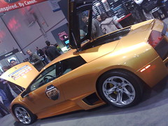 lamborghini on a stand at ces 2009