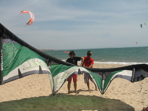 Stage 0: Kite setup. This was pretty straight forward, surprisingly. Just don't get your lines twisted!