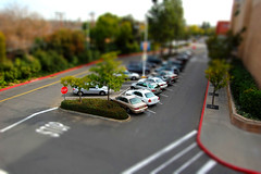 Mall Parking Lot Tiltshift