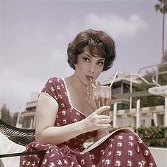 Gina Lolabrigida sips a milkshake by Jeff Houck