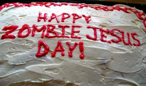 Zombie Jesus Day Cake
