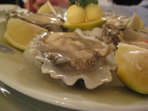 Raw Oysters from Patagonia