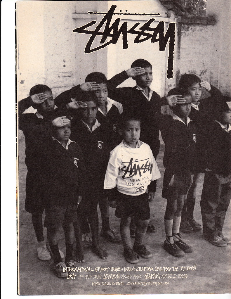 Vintage Stussy Ad from 1990