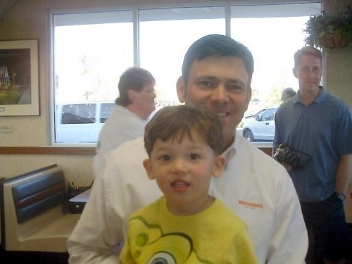 Nicky with Mark Brunell