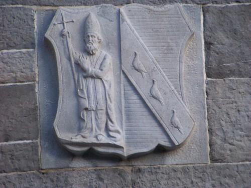 Carving on St. Patrick's Cathedral showing St. Patrick
