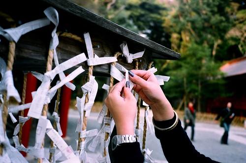鶴岡八幡宮-壞籤散去