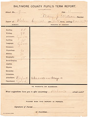 Report Card, Winter 1903