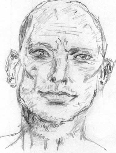 Drawing Unknown Faces, part 167, sketch 2