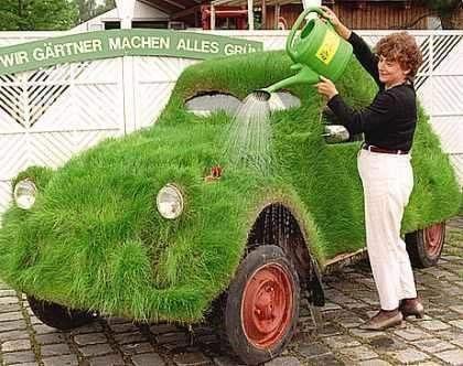 watering grasscar