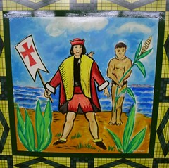 Christopher Columbus Glazed Tile Painting - 9