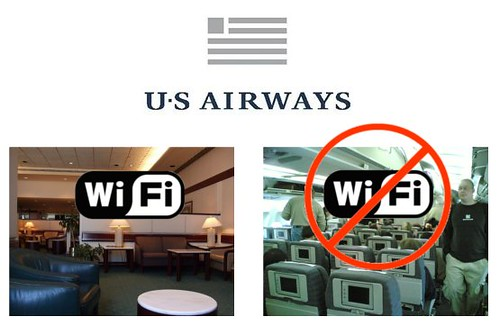 US Airways Free Wifi Availability