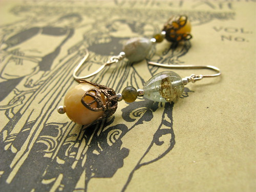 My Lady earrings in antiqua