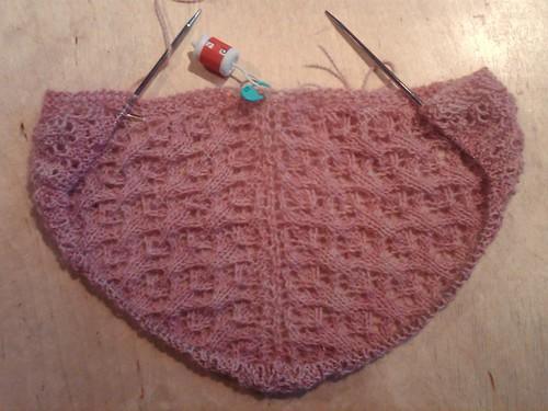 Percy shawl wip