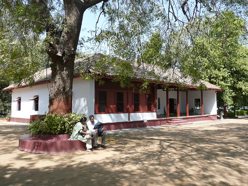 Gandhis home at the ashram where he lived and taught for many years