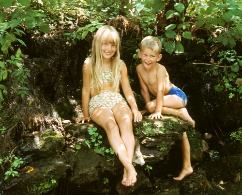 1968 - Me and my brother, Rusty - Hot Springs, Arkansas