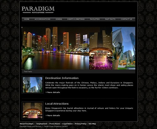 Paradigm Singapore - Section Page