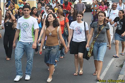 Estudantes Passeata 19 por você.