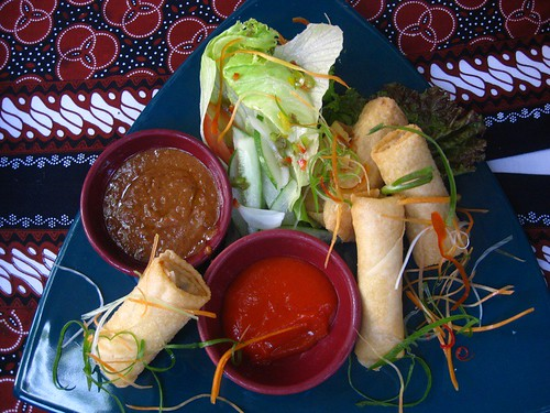 spring rolls Indonesian style