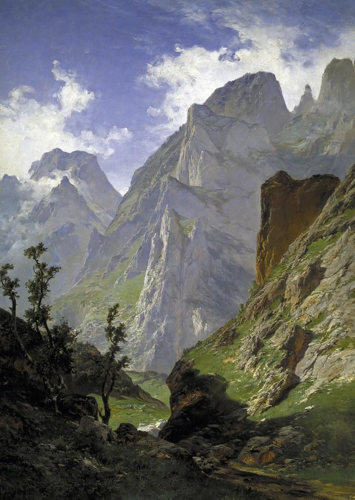 Carlos de Haes (Brussels, 1826-Madrid, 1898) La canal de Mancorbo en los Picos de Europa (1876) Oil on canvas. 168 x 123 cm. Museo Nacional del Prado, Madrid.