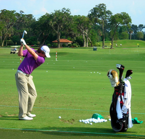 Rory McIlroy gets in range work at TPC Sawgrass