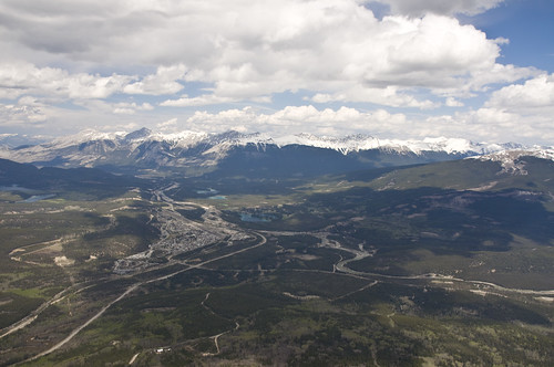 View of Jasper Townsite and its Surroundings from the Upper Terminal