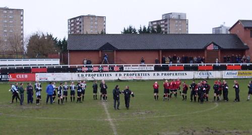 The teams take a bow