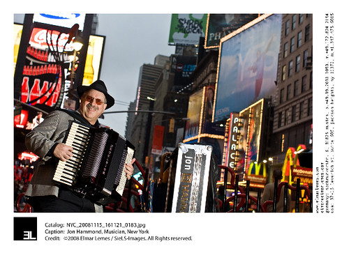 Jon Hammond Excelsior Accordion Times Square