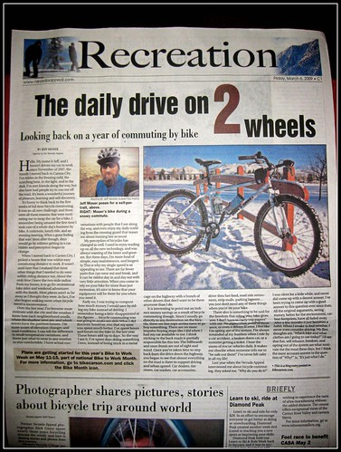 Bicycle Commuting in the Paper!