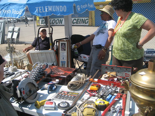 We were not amused by auto supplies at Thor Equities Flea Market in Coney Island.  Photo © Tricia Vita/me-myself-i via flickr