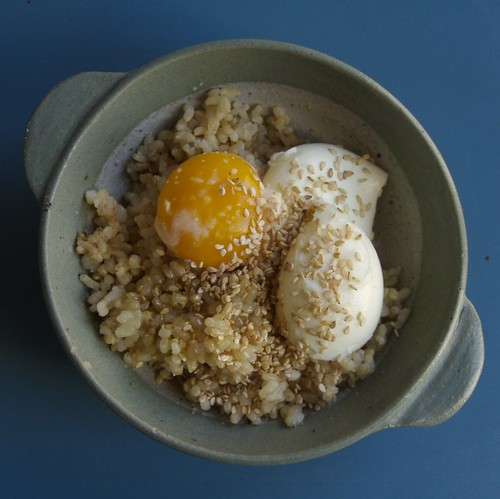 Brown Rice with Egg and Sesame