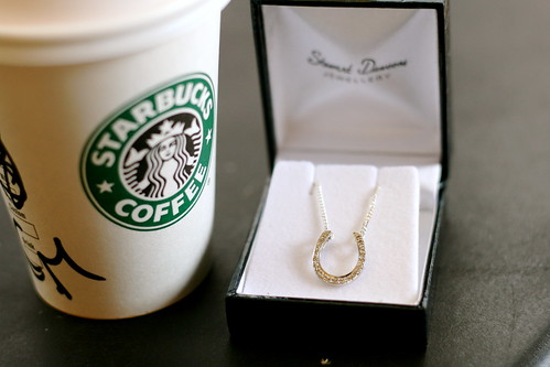 Monday: Tiny overpriced coffee and finall returned necklace
