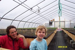 Riverland Farm's new greenhouse
