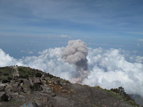 Santiaguito erupting