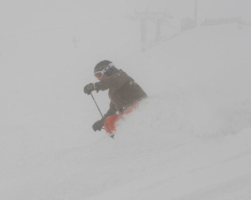 Whie-out conditions at top lifts