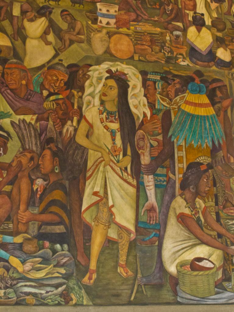 Frida Kalho as a native princess