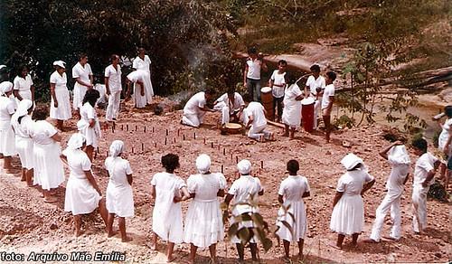 Cachoeira da Suframa, onde em tempos passados se faziam santificadas oferendas.